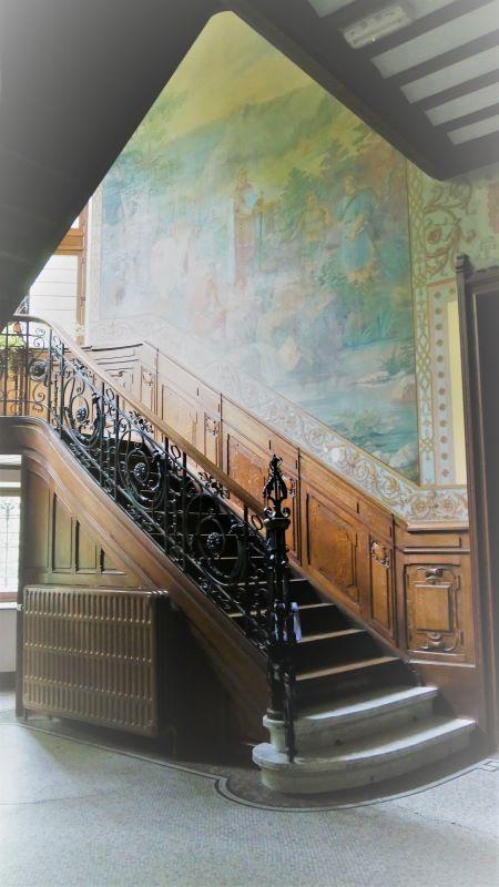 detail van de art-nouveau oprit